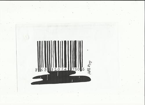 Cartoon: bar code (medium) by yasar kemal turan tagged code,bar