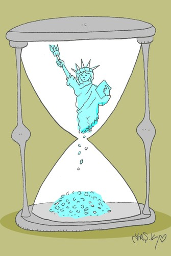 Cartoon: beginning of the End (medium) by yasar kemal turan tagged beginning,of,the,end