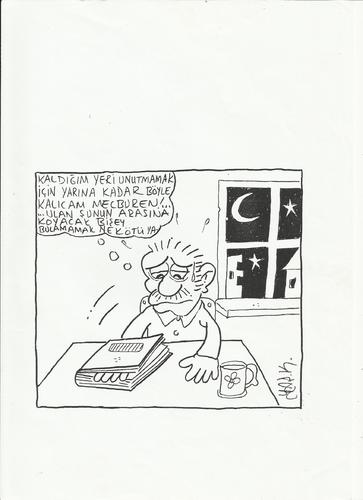 Cartoon: book (medium) by yasar kemal turan tagged book