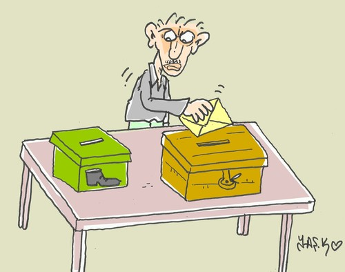 Cartoon: bribery box (medium) by yasar kemal turan tagged bribery,box