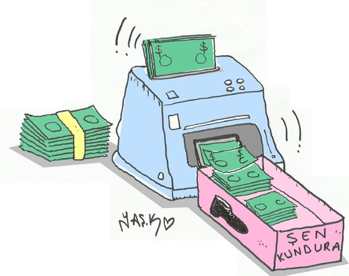 Cartoon: bribery machine (medium) by yasar kemal turan tagged bribery,machine