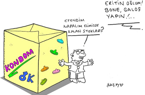 Cartoon: condom (medium) by yasar kemal turan tagged condom