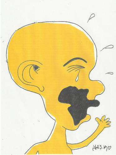 Cartoon: cry (medium) by yasar kemal turan tagged africa,please,succor,cry