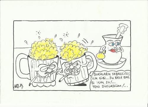 Cartoon: cups (medium) by yasar kemal turan tagged cups