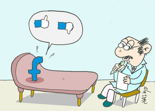 Cartoon: dilemma (medium) by yasar kemal turan tagged dilemma,facebook,love,psychology,psychiatry