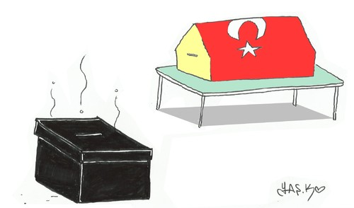 Cartoon: dirty politics (medium) by yasar kemal turan tagged dirty,politics