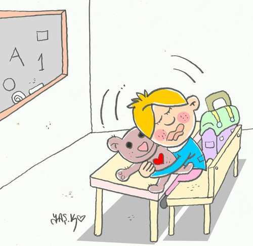 Cartoon: pedagogy-education in Turkey (medium) by yasar kemal turan tagged turkey,in,education