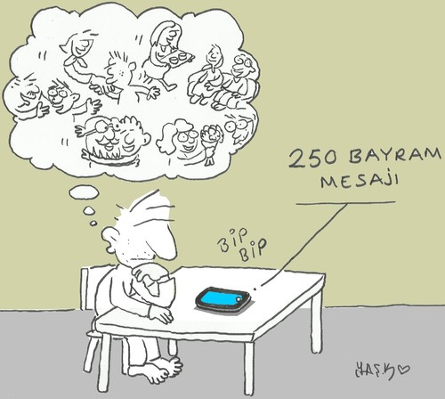 Cartoon: Eid al-Fitr message (medium) by yasar kemal turan tagged eid,al,fitr,message