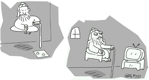 Cartoon: End of shift (medium) by yasar kemal turan tagged shift,of,end