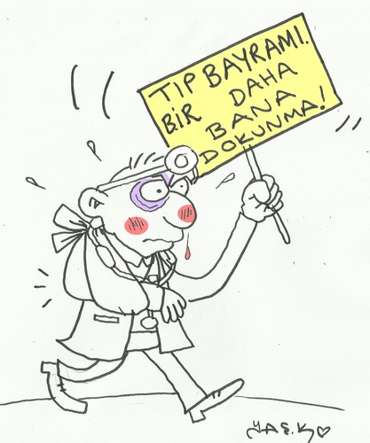 Cartoon: Feast of medicine in turkey (medium) by yasar kemal turan tagged turkey,in,medicine,of,feast