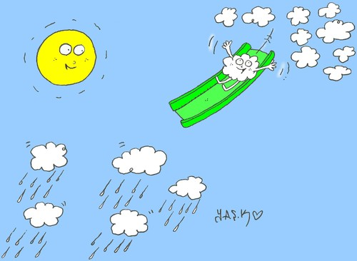 Cartoon: formation of rain (medium) by yasar kemal turan tagged formation,of,rain