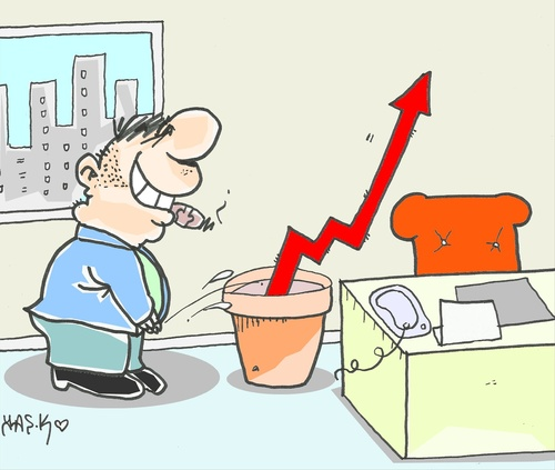 Cartoon: great rant (medium) by yasar kemal turan tagged great,rant,economy,capital,flower,indicator