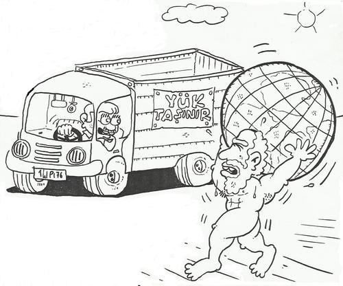 Cartoon: heavy load (medium) by yasar kemal turan tagged load,heavy