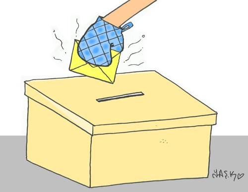 Cartoon: Hot elections in Turkey (medium) by yasar kemal turan tagged turkey,in,elections,hot