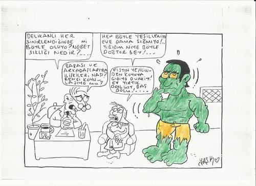 Cartoon: hulk (medium) by yasar kemal turan tagged hulk