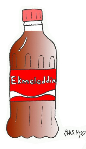 Cartoon: Ekmeleddin (medium) by yasar kemal turan tagged ihsanoglu