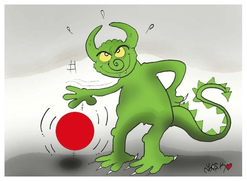 Cartoon: tragedy of Japanese (medium) by yasar kemal turan tagged japan