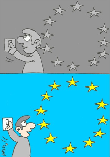 Cartoon: joke (medium) by yasar kemal turan tagged joke,european,union