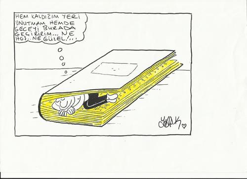 Cartoon: kitap (medium) by yasar kemal turan tagged kitap