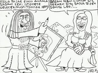 Cartoon: leonardo vinci (medium) by yasar kemal turan tagged vinci,leonardo