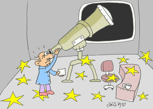 Cartoon: lost stars (medium) by yasar kemal turan tagged lost,stars