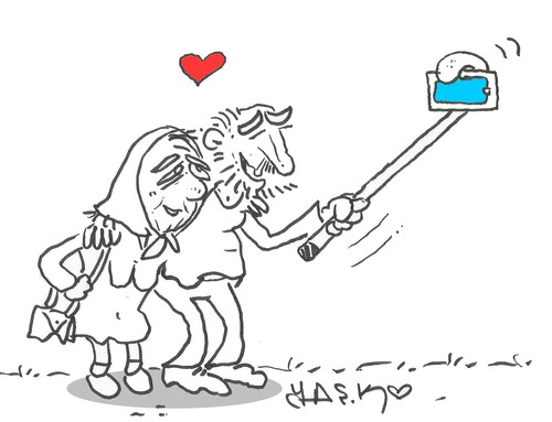Cartoon: love (medium) by yasar kemal turan tagged love