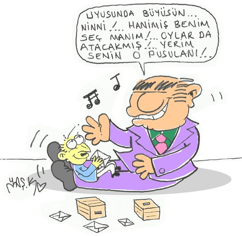 Cartoon: lullaby (medium) by yasar kemal turan tagged lullaby