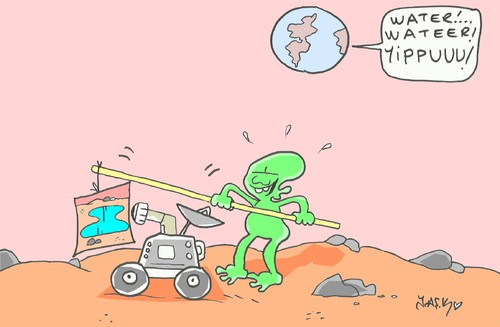 Cartoon: Mars (medium) by yasar kemal turan tagged mars