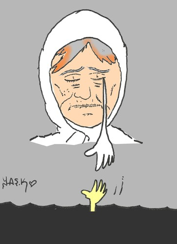 Cartoon: mother (medium) by yasar kemal turan tagged mother