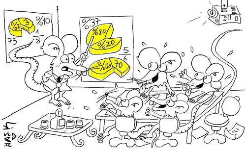 Cartoon: mouse and cheese (medium) by yasar kemal turan tagged cheese,and,mouse
