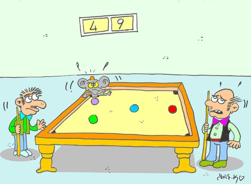 Cartoon: nest (medium) by yasar kemal turan tagged nest,billiards,mouse