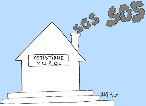 Cartoon: Orphanages in Turkey (medium) by yasar kemal turan tagged orphanages,in,turkey