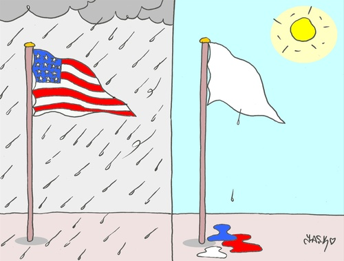 Cartoon: weak (medium) by yasar kemal turan tagged weak,rain,storm,us,usa