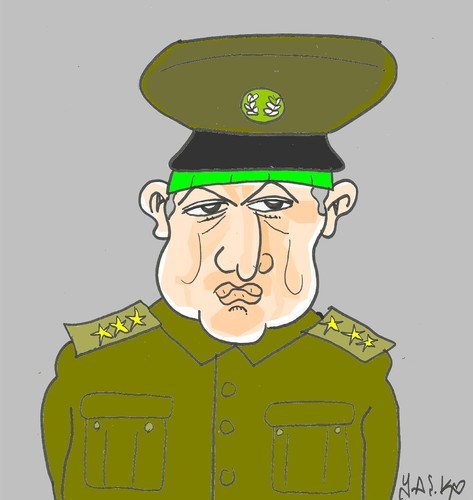 Cartoon: political power Turkey (medium) by yasar kemal turan tagged religious,soldier,turkey,fetullah,gulen