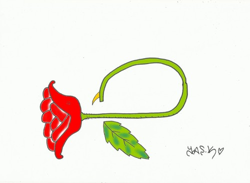 Cartoon: scorpion (medium) by yasar kemal turan tagged scorpion,rose,poison