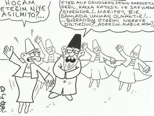 Cartoon: semazen (medium) by yasar kemal turan tagged semazen