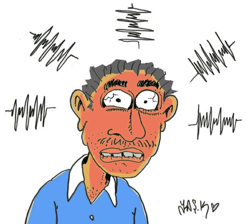 Cartoon: Sound recordings in Turkey (medium) by yasar kemal turan tagged sound,recordings,in,turkey