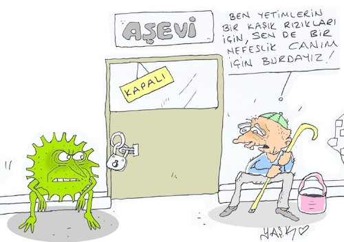 Cartoon: soup kitchen (medium) by yasar kemal turan tagged soup,kitchen