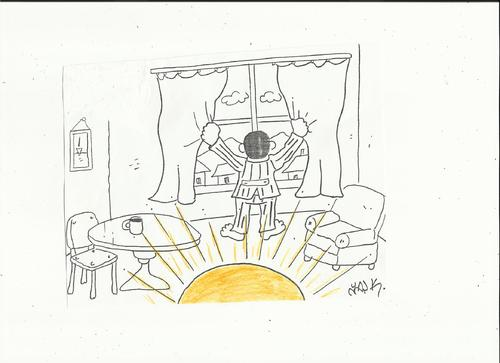 Cartoon: sun (medium) by yasar kemal turan tagged sun