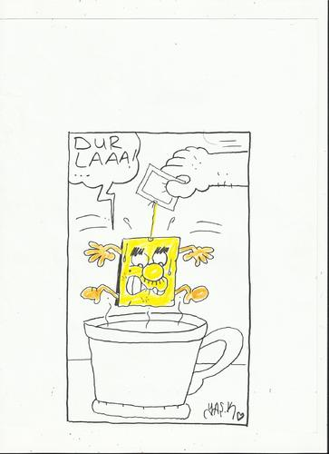 Cartoon: tea (medium) by yasar kemal turan tagged tea