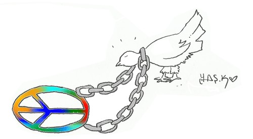 Cartoon: to create peace (medium) by yasar kemal turan tagged to,create,peace