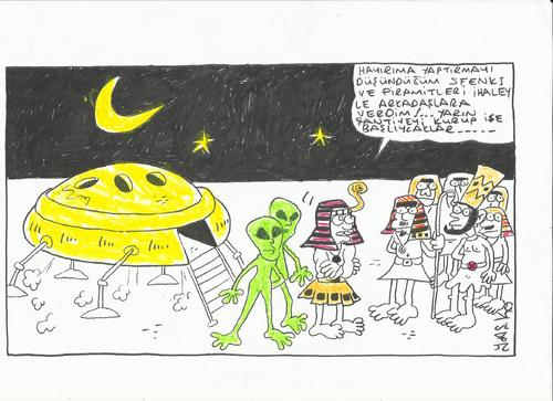 Cartoon: ufo (medium) by yasar kemal turan tagged ufo