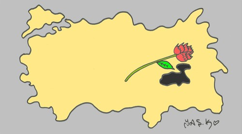 Cartoon: Van earthquake (medium) by yasar kemal turan tagged van,earthquake