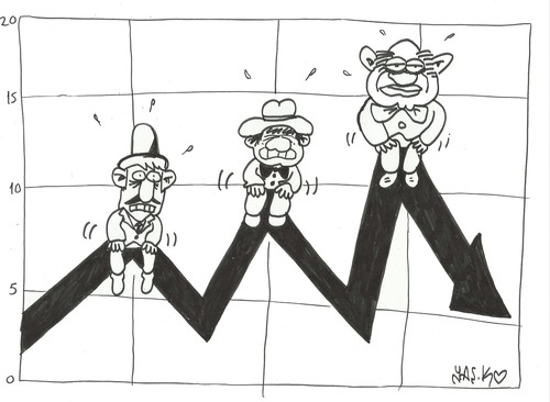 Cartoon: Wall Street rich (medium) by yasar kemal turan tagged wall,street,rich