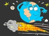 Cartoon: Aphosis 2011- 2028-2036 (small) by yasar kemal turan tagged aphosis,meteorite,world