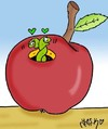 Cartoon: Apple has established (small) by yasar kemal turan tagged apple,has,established