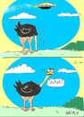 Cartoon: at that moment (small) by yasar kemal turan tagged at,that,moment,ufo,ostrich