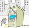 Cartoon: atm (small) by yasar kemal turan tagged atm