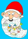 Cartoon: beard (small) by yasar kemal turan tagged beard,love,father,christmas,winter,children,snowman