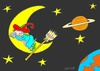 Cartoon: break (small) by yasar kemal turan tagged break,witch,moon